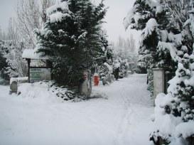 Le camping sous la neige en hiver 2015